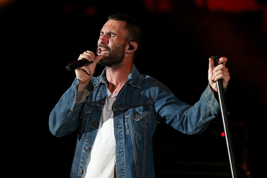 Adam Levine in all his glory. - SHUTTERSTOCK