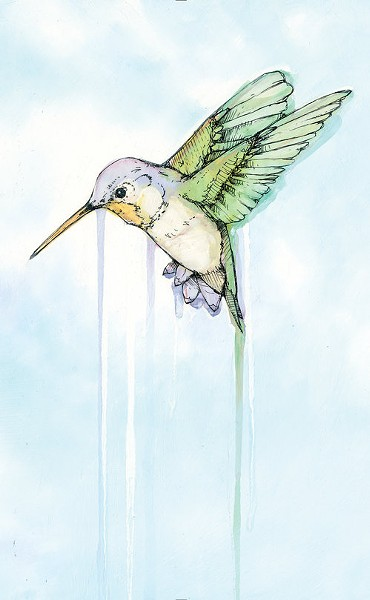 """""""You see the book, there's no writing on the cover. It's just a book,"""" Angelini says of his latest book, Hummingbird. """"There's no way a regular giant publisher would let me do that."""" - COURTESY PHOTO"""