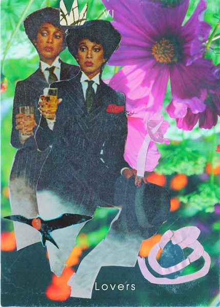 """Lovers: """"The Lovers"""" from Casey Rocheteau's Shrine of the Black Medusa tarot deck, available for purchase through her website. Image courtesy of Casey Rocheteau. - COURTESY OF CASEY ROCHETEAU"""