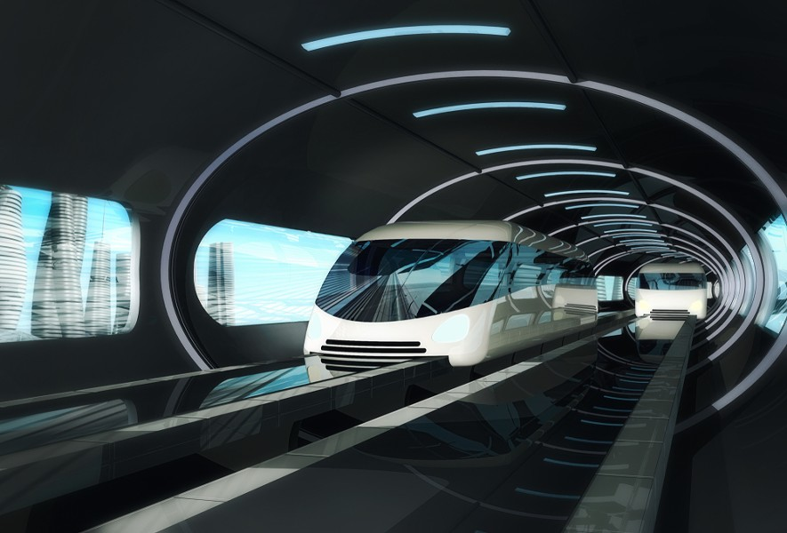 Rendering of a proposed high-speed magnetic levitation train. - COURTESY PHOTO