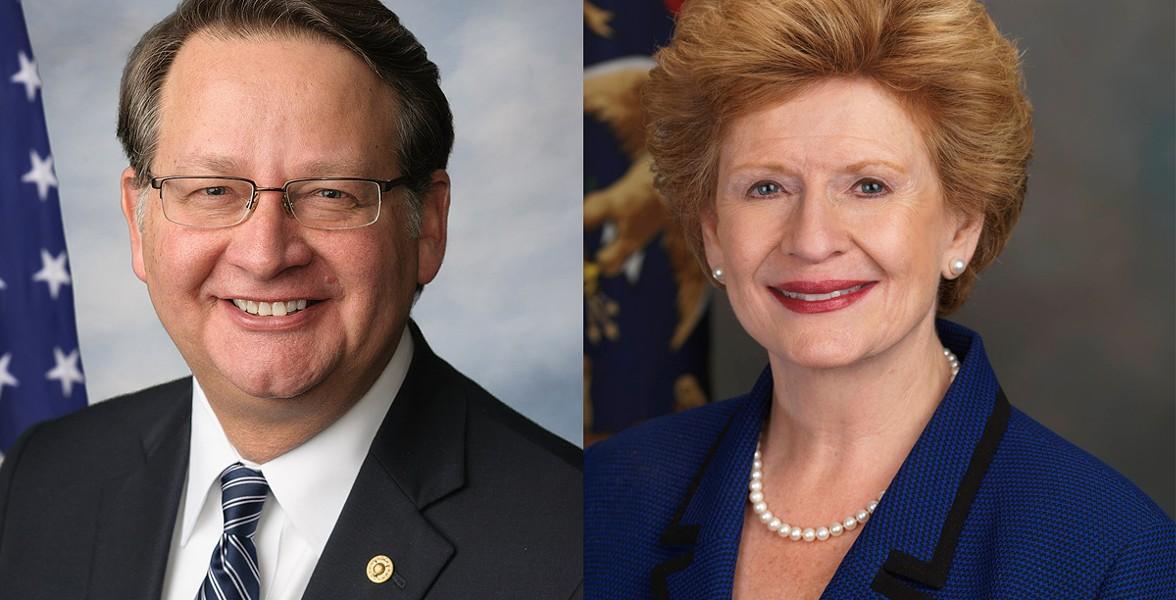 Michigan's Democrat Senators, Gary Peters and Debbie Stabenow. - US SENATE