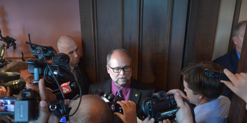 Republican Sen. Majority Leader Arlan Meekhof is leading the charge to gut a mandated paid sick time law.