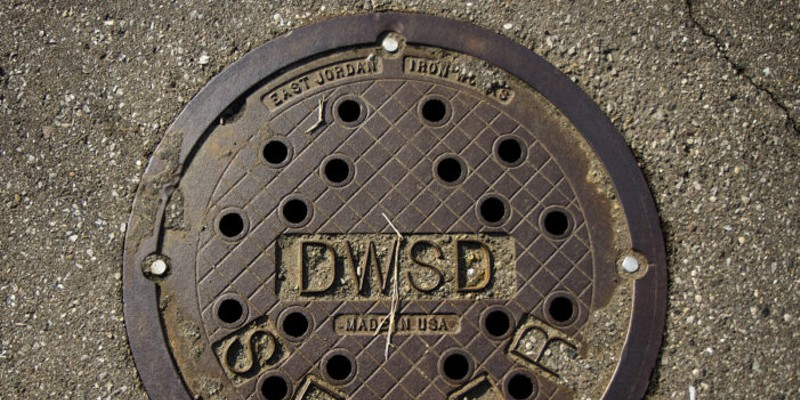Detroit Water and Sewerage Department manhole.