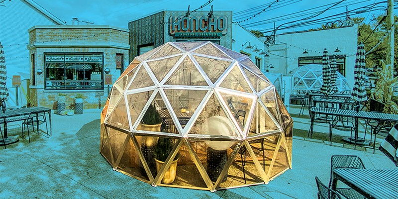 Michigan restaurants are turning to tents and igloos to extend outdoor dining amid the pandemic — but beware a false sense of security