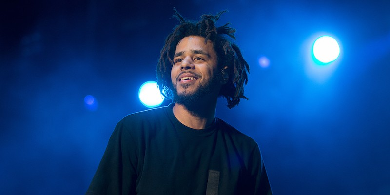 J.Cole is, uh, a bit behind.