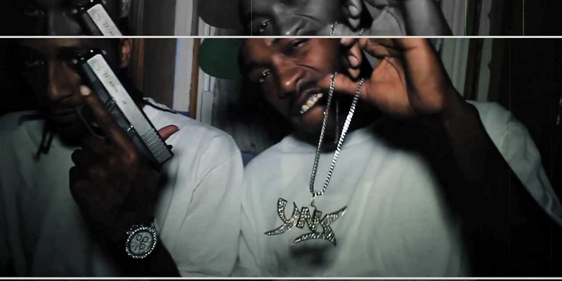 """A still from YNS Da Mob's """"Crack House"""" video. Rapper Cheeks and others have been indicted for a range of offenses."""