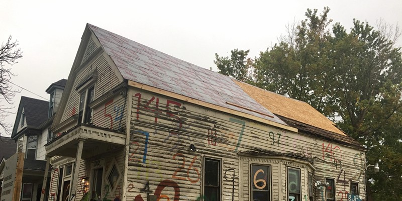 """The Heidelberg Project's """"Numbers House"""" is undergoing renovation."""