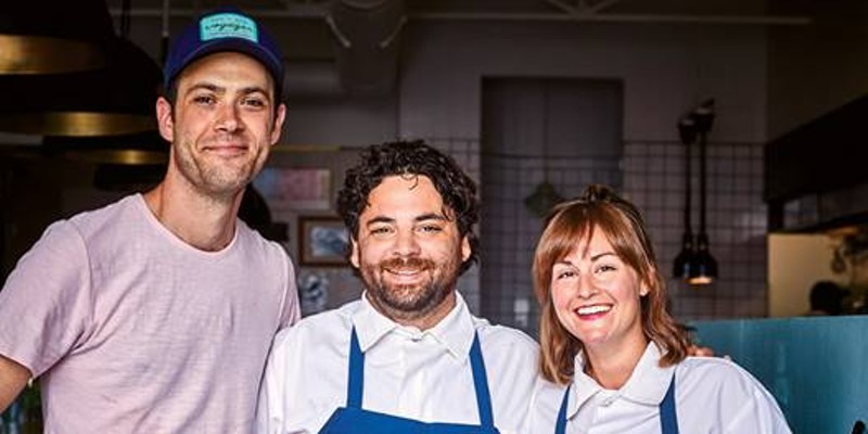 Lovers Only chef Justin Tootla, owner Eli Boyer, and chef Jennifer Jackson.