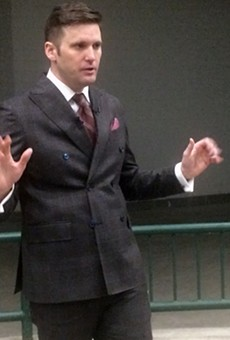 Richard Spencer speaking at MSU.