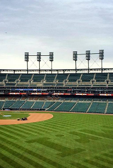 An empty Tigers stadium. No, this is not the low attendance game, there were about 15,000 people on hand for that.