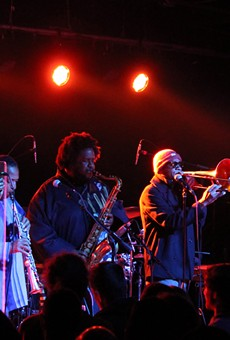 Kamasi Washington performing at the Magic Stick in Detroit.