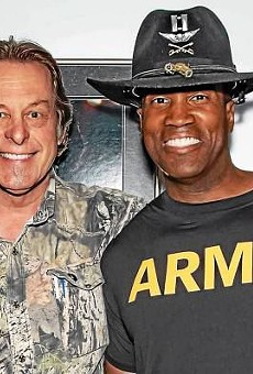 Ted Nuget with Senate hopeful, conservative warrior John James