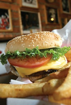 The Anchor's cheeseburger and fries.
