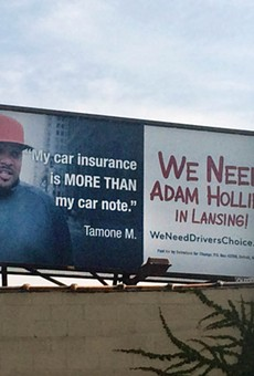 A campaign sign for Adam Hollier on Detroit's east side.