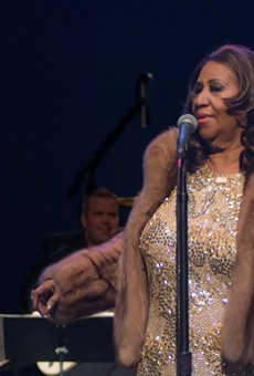 Aretha Franklin performing at Chene Park in 2015.