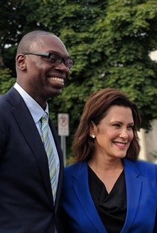 Gretchen Whitmer and running mate, Garlin Gilchrist II.