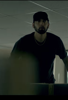 "Eminem is haunted by his critics in ""Fall"" video"