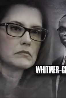 Screen grab from Bill Schuette's latest attack ad against Gretchen Whitmer.