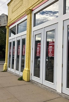 Hiring signs appear in the windows of the long-vacant space at the corner of Willis St. and Cass Ave.