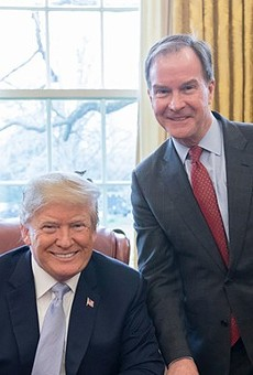 Bill Schuette in the Oval Office with president Trump.