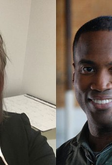 Left: Reporter Brenda Battel, former of the Huron Daily Tribune. Right: Former U.S. Senate candidate John James.