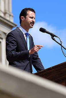 Rep. Yousef Rabhi (D-Ann Arbor) unveils his plan to provide universal health coverage for Michiganders.