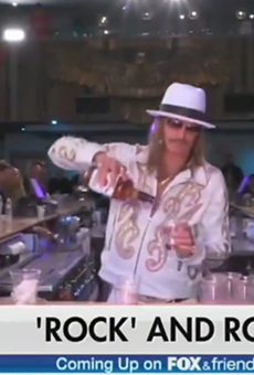 Kid Rock calls Joy Behar a bitch on 'Fox & Friends', praises Trump, and swigs whiskey — all before 8 a.m.
