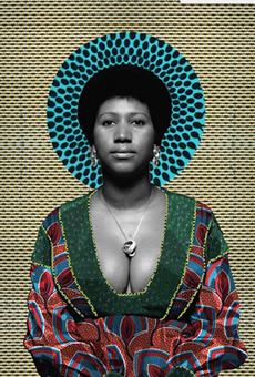 Aretha Franklin portrait by Makeba Rainey