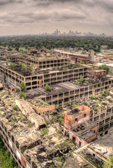 Aerial view of the Packard Plant.