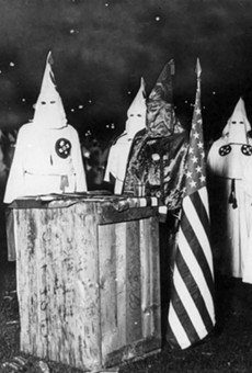KKK night rally in Chicago.