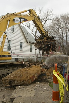 A Detroit Land Bank demolition