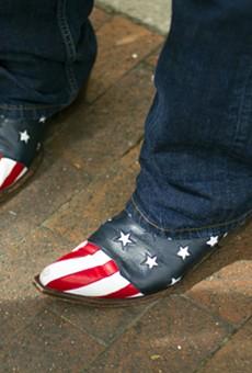 Charlie LeDuff's iconic boots.