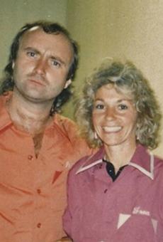 Phil Collins with Fran Belkin.