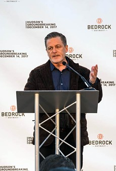 Dan Gilbert at the groundbreaking for the Hudson site project.