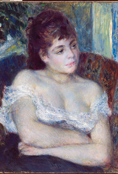 """""""Woman in an Armchair,"""" 1874, Pierre-Auguste Renoir, French; oil on canvas."""