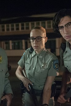 Bill Murray as Officer Cliff Robertson, Chloë Sevigny as Officer Minerva Morrison, and Adam Driver as Officer Ronald Peterson in writer-director Jim Jarmusch's The Dead Don't Die.