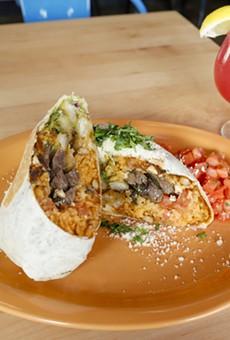 The Original California burrito and the Como La Flor margarita.