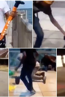 Viral video shows scofflaws vandalizing scooters, attacking random people in Detroit