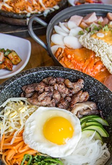 Dishes from JINJI Korean Cuisine & Soju Bar at New Seoul Plaza.