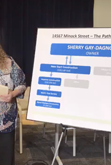 "DPD Lt. Rebecca McKay explains ""the path to demolition"" of Rep. Sherry Gay-Dagnogo's Detroit home."