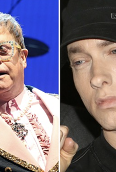 No, Elton John and his husband haven't used Eminem's intimate wedding gift... yet