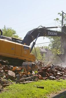 A demolition in Detroit.