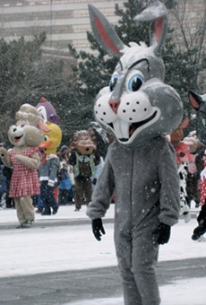 The annual Thanksgiving Parade along Woodward Avenue in 2014.