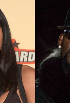 Aaliyah in 2001. R. Kelly in 2016.