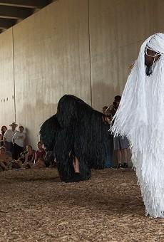 Nick Cave Dance Lab performance in Detroit's Dequindre Cut.