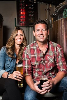 Drew Ciora, right, and wife Michelle, of Royal Oak Brewery.