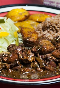 Brown stew chicken at Jamaican Pot.