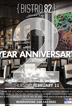 Bistro 82 celebrates two-year anniversary with a fundraiser for people in Flint water crisis