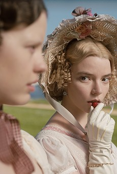 Mia Goth (left) as Harriet Smith and Anya Taylor-Joy (right) as Emma Woodhouse in director Autumn de Wilde's Emma.
