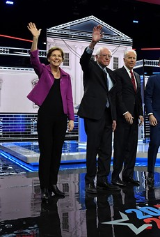 Mike Bloomberg, Sen. Elizabeth Warren, Sen. Bernie Sanders, former Vice President Joe Biden, Mayor Pete Buttigieg, and Sen. Amy Klobuchar at a recent debate. Only Sanders and Biden remain in the race.